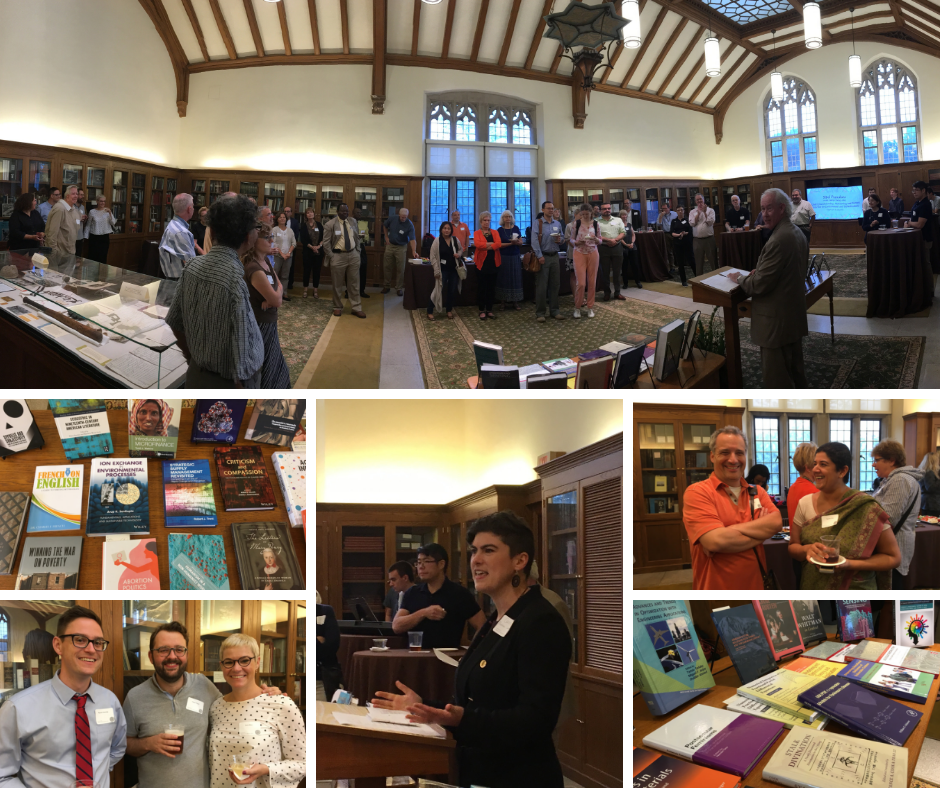 collage of six photos of 2018 Harvest of Ideas faculty reception