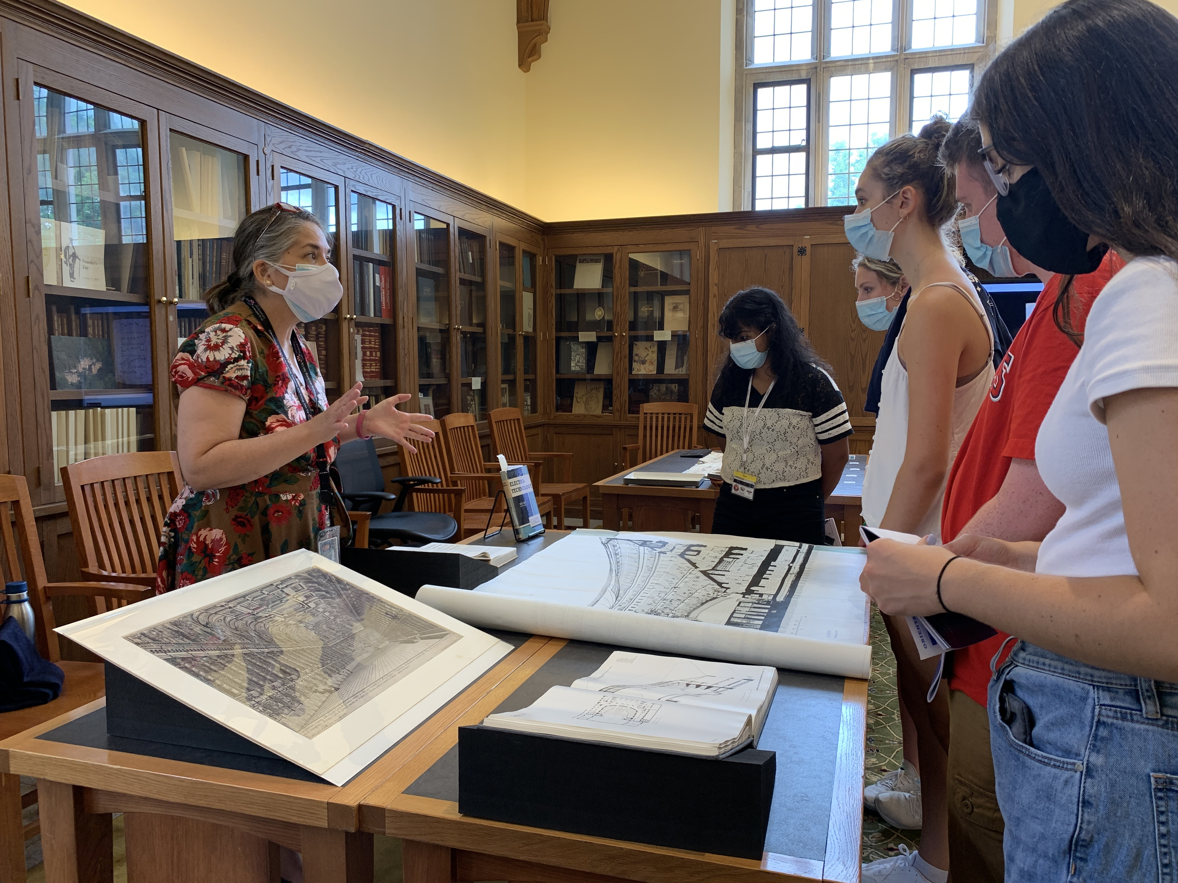Heather Simoneau showing students architecture archives
