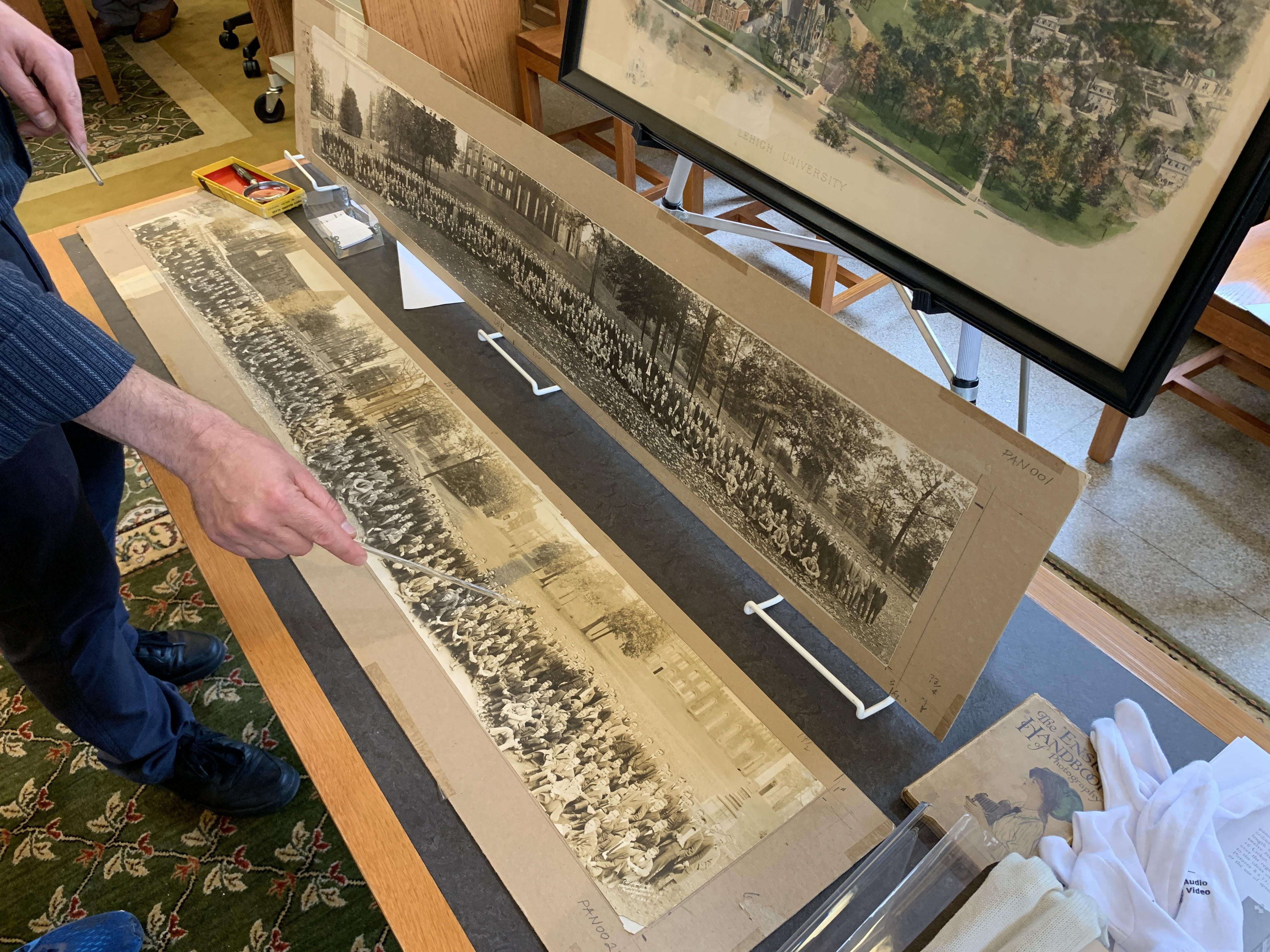 Ilhan Citak discussing early 1900s Lehigh panoramic photos