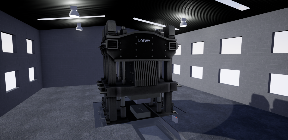 virtual view of Loewy press experience