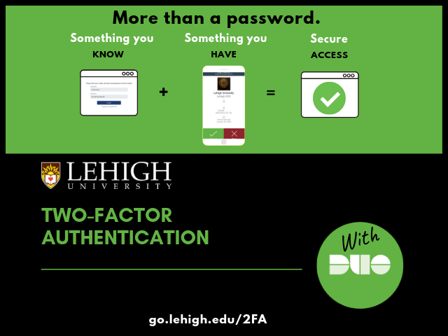 Two-factor authentication with Duo