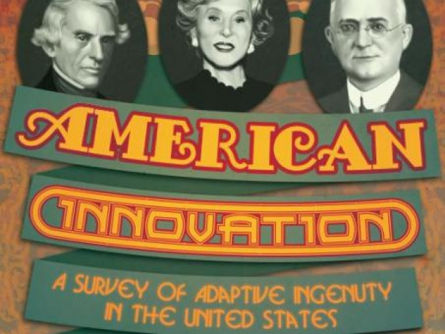 Poster advertising the American Innovation Fall Exhibit