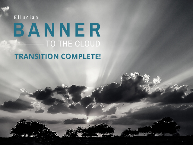 banner to the cloud transition complete