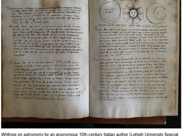 Writings on astronomy by an anonymous 15th-century Italian author