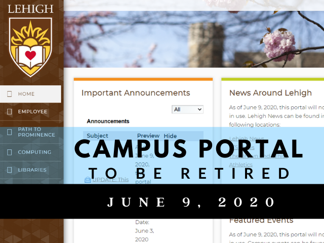 Campus portal to be retired June 9, 2020