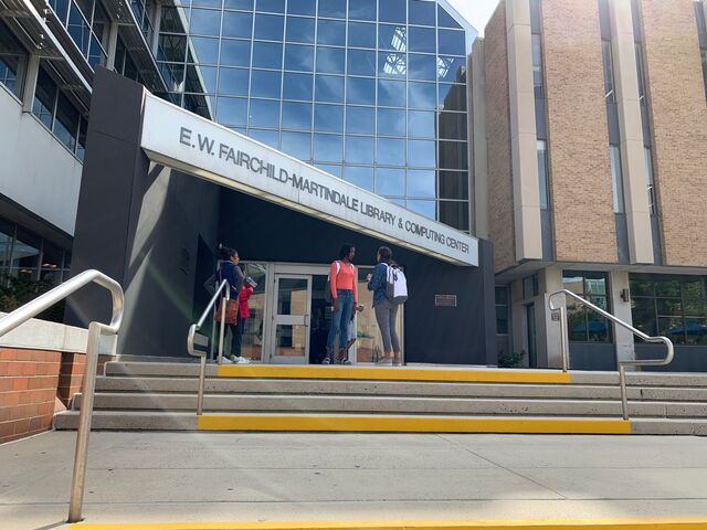 EWFM Library Lehigh University main entrance