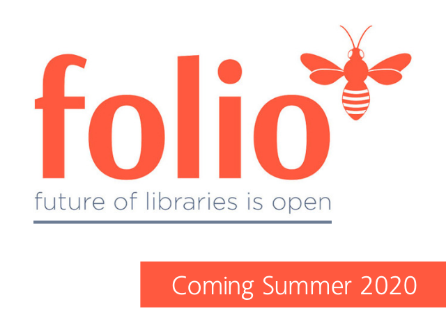 FOLIO future of libraries is open logo coming in 2020