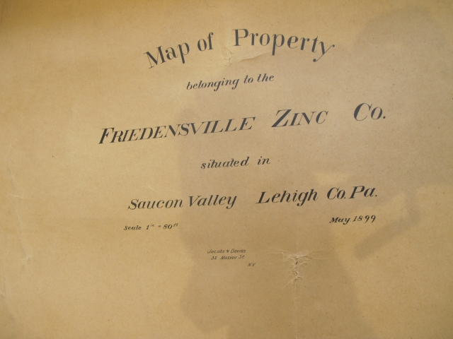 Map of property belonging to the Friedensville Zinc Co