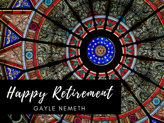 Happy Retirement Gayle Nemeth with Linderman skylight