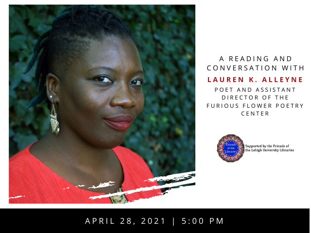 Friends of the Lehigh Libraries Talk: A Reading and Conversation with Lauren K. Alleyne