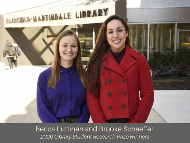 2020 Student Research Library Prize winners