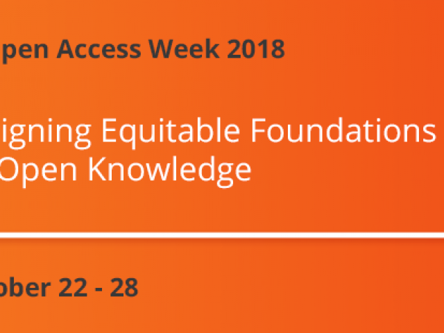 Open Access Week 2018 logo