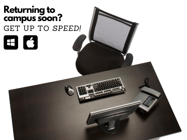 office desk chair keyboard monitor and phone
