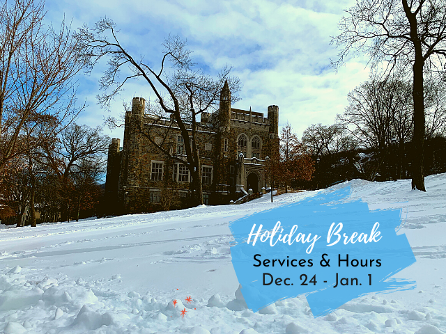 Linderman Library with snow