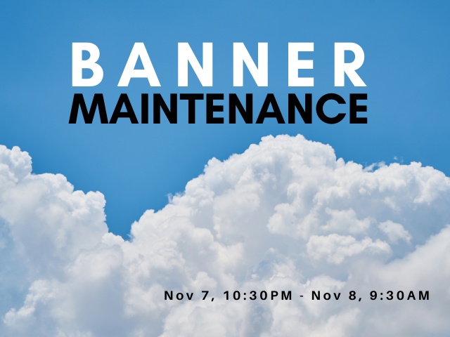 Banner maintenance over clouds