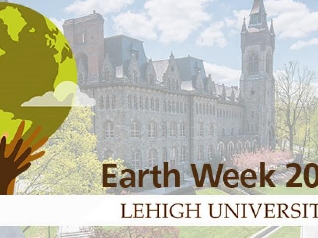 Earth week logo with a globe displayed