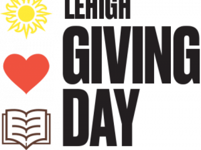 Lehigh University Giving Day logo with sun heart and book
