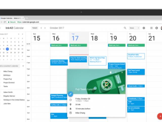new google calendar interface