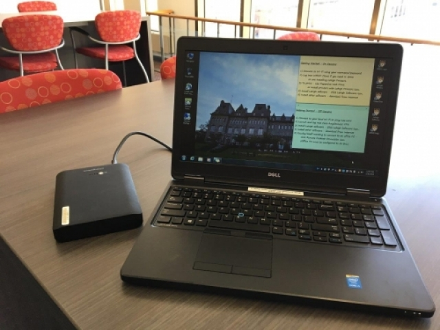 loaner laptop with power pack