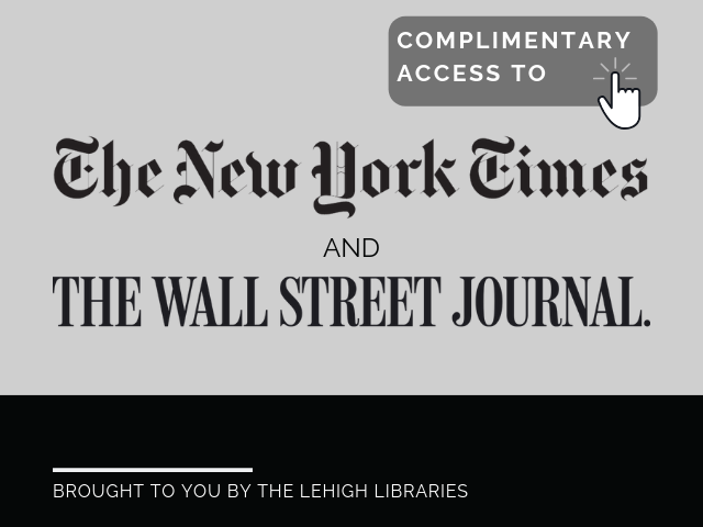Complimentary access to The New York Times and The Wall Street Journal