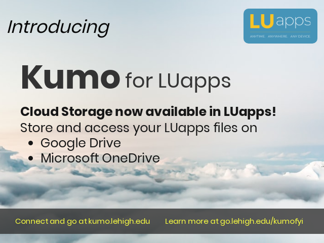 Introducing Kumo access cloud storage in LUapps