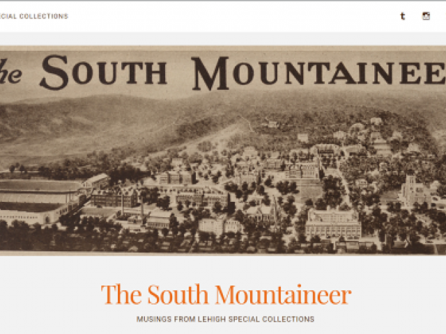 Historical image of the cover of the South Mountaineer publication