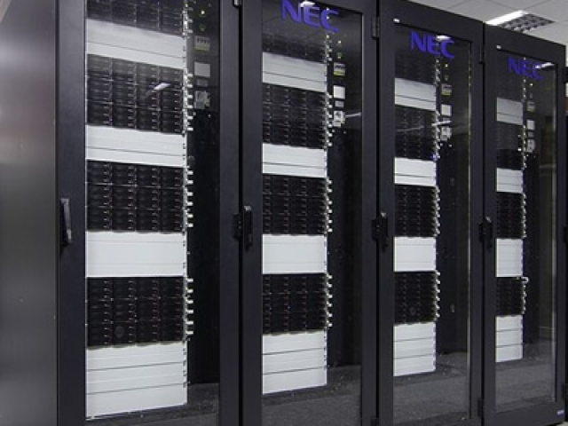 Photo of data center servers