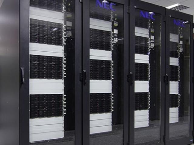 Photo of data center servers