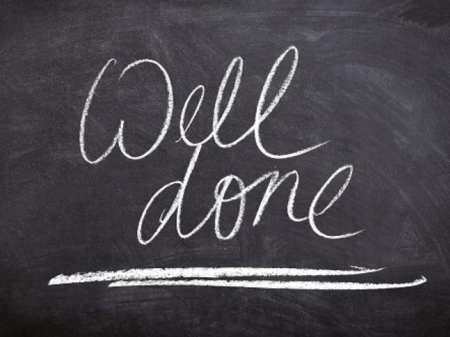 achievement well done