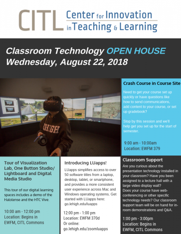 CITL open house flyer