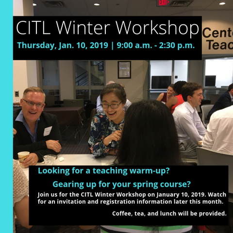 CITL Winter Workshop graphic with date and time