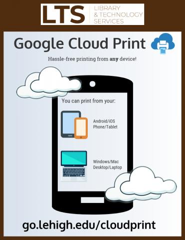 Google Cloud Print infographic