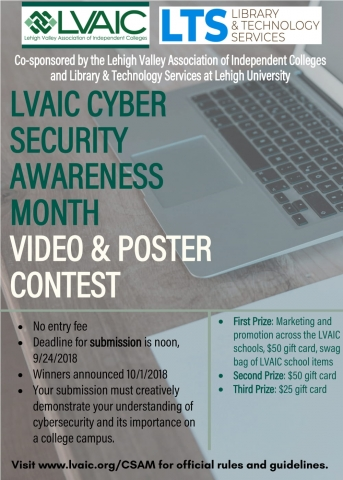 LVAIC Cyber Security Awareness Month video & poster contest flyer