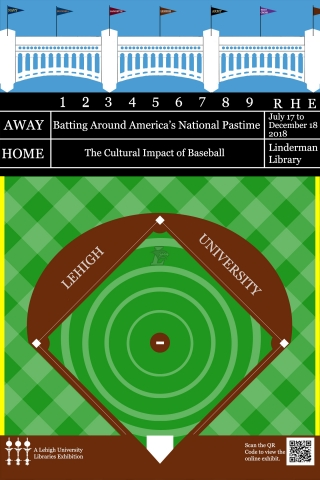 Linderman Library baseball exhibition flyer