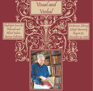 "Poster advertising the ""Visual & Verbal"" collection display"