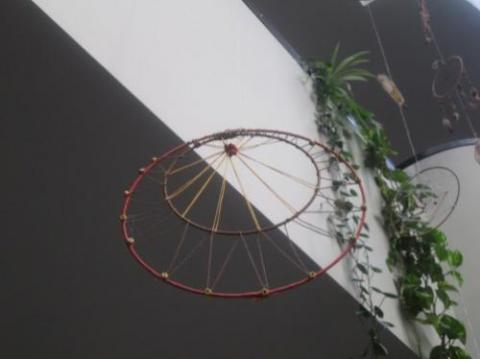 Dream Catcher hanging in EWFM Library