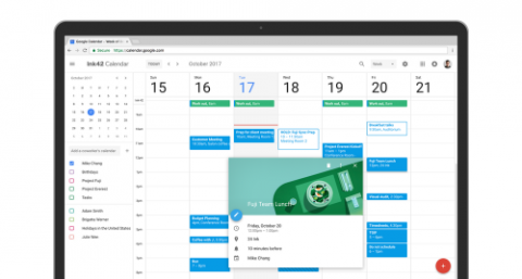 new google calendar interface