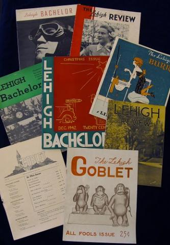 Images of covers of printed copies of historical Lehigh student publications