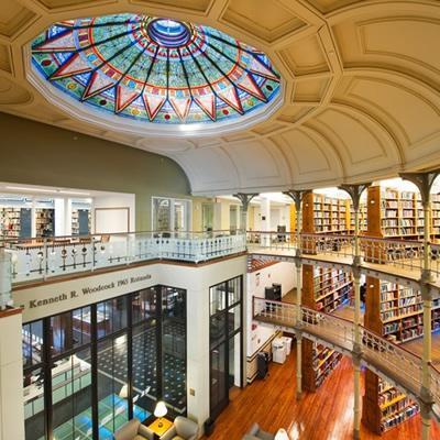 Linderman Library rotunda area