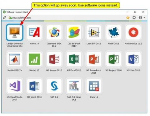 a screenshot showing the virtual site icon that will be removed and the applications you can run