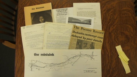 photo of various chronicling resistance library artifacts