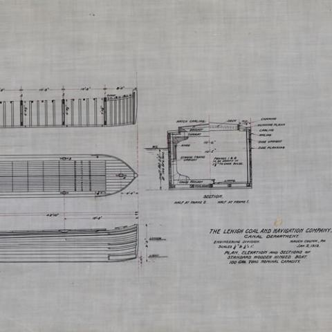 Wooden-hinged boat plans
