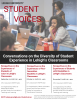 Student Voices fall 2018 series flyer