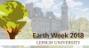 Earth week logo with a globe displayed
