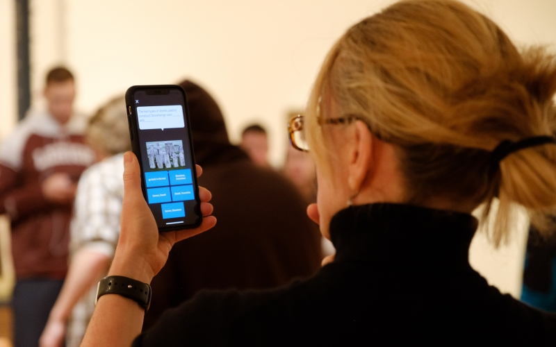 Guest at Lehigh University Art Galleries participating in [AR]T ADVENTURES augmented reality game