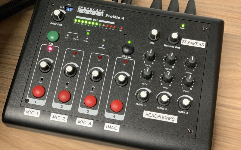Lehigh University Audio Studio control panel