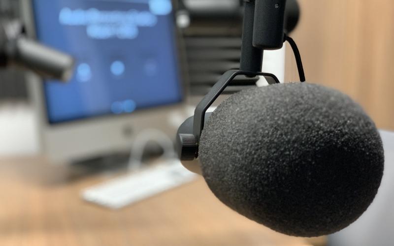 Lehigh University Audio Studio mic blur background