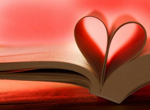 valentine with open book